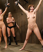 Two hot girls held and tortured bound