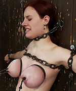 Chained to the wall, clamped, caned and vibed