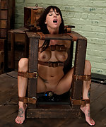 Bound and face fucked by slave trainers in the basement