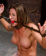 Three girls cuffed and used by two dominas