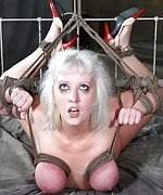 Hot blond gets destroyed by cock and bondage