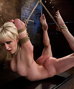 Roped, fingered, made to cum, punished to the limit of her flexibility