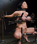 Cruelly bound, pussy whipped, flogged and vibrated