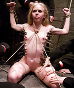 Roped, tortured with pegs, suspended, fucked by strangers