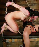 Roped, whipped and forced to cum
