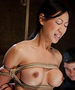 Slave trainee is roped, trained and fucked