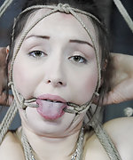 Roped, suspended, gagged, vibed and tortured
