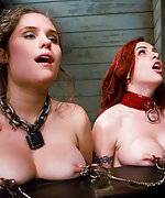 Two slavegirls trained and fucked