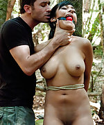 Two business women grabbed and tied up in the woods