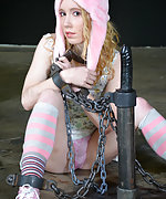 Cuffed, chained, dildoed and humiliatingly trained