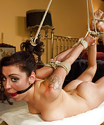 Manhandling, strict bondage and anal sex