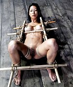 Roped, fixed with bamboo, vibed and dildoed