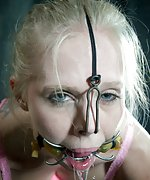 Two blondies in bondage, humiliations and sexual depredation
