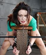 Wholesome girl restrained and used hard from both ends