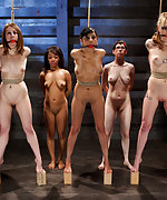 Seven slavegirls trained and tested in extreme bondage