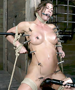 Three girls get bound, tortured and vibed