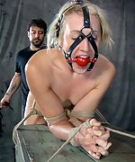 Lucky girl gets roped, tortured, dominated and vibed